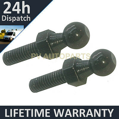 PAIR GAS STRUT END FITTINGS 10MM BALL PIN BRACKET BLACK MULTI FIT GSF26//27