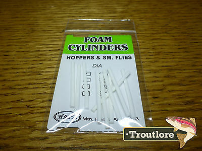 Wapsi White Foam Cylinders Extra Small 1/16 Inch - New Fly Tying Materials