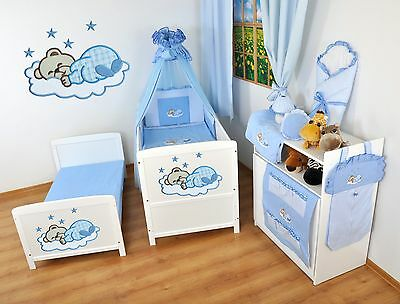 NEW WHITE 2in1 COT-BED 140 x 70 WITH A 12-PIECE BEDDING no 14- MATTRESS FREE
