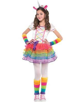 Child Magical Rainbow Unicorn Fancy Tutu Dress Costume Girls Ballerina Fairytale