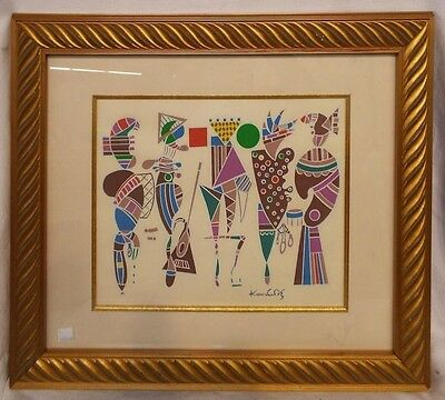 Wassily Kandinsky Signed Original Color Lithograph with COA - Framed