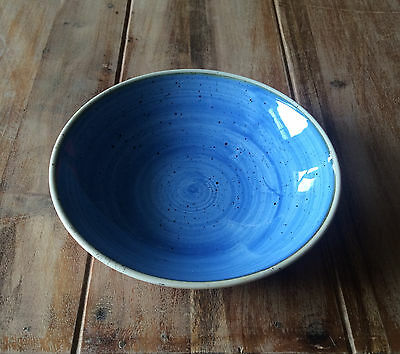 Churchill STONECAST Coupe Bowl Cornflower Blue Schüssel Porzellan 42,6 cl blau