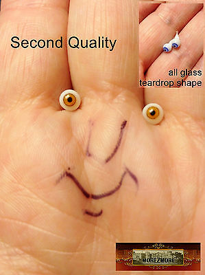 M00637 MOREZMORE Glass Eyes SECONDS 4mm 1:6 1/6 Scale BROWN Small Miniature T20