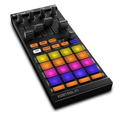 Native Instruments Traktor Kontrol F1 DJ USB MIDI Controller Stems Ready