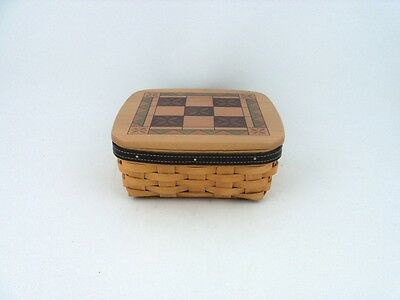Longaberger 2001 Fathers Day Basket Tic Tac Toe Game Combo w Lid
