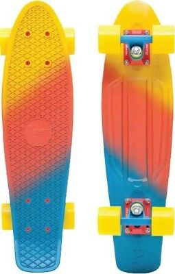 "Penny 22""  Canary Fade Series Skateboard - Yellow / Red / Blue"
