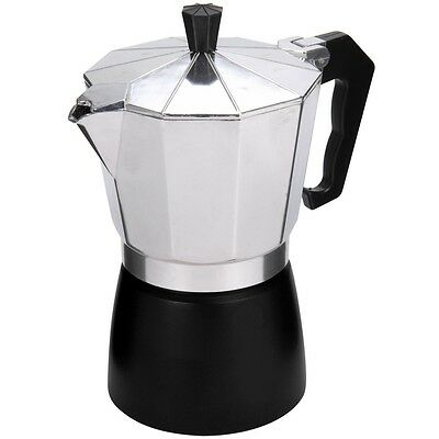 Promobo - Cafetiere Italienne 6 Tasses Expresso 800ml Inox Design Luxe Noir