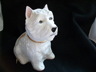 1970 Scotch Whiskey Liquor Bottle Scotty Dog Royal Adderley Bone China Scotland