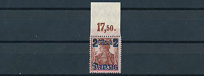 Danzig 2 Mark Germania 1920** Plattendruck OR Michel 43 II (S13931)