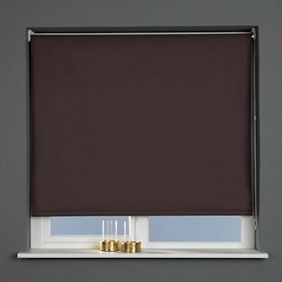 Sunlover THERMAL BLACKOUT Roller Blinds. Chocolate Brown. Sizes 60cm to 240cm