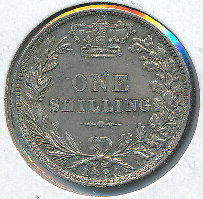 Great Britain Shilling 1884 KM 734.4 - AU