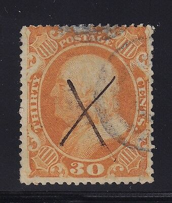 38 F-VF used neat cancel with nice color cv $ 425 ! see pic !
