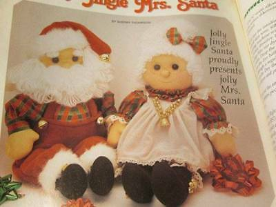 Soft Dolls & Animals Winter 1998 Magazine-Mrs Santa/Elephant King/Giraffe Qu
