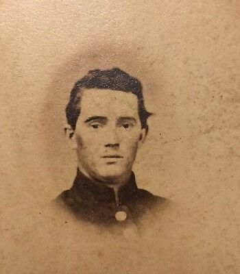 RARE Civil War CDV of Union Soldier from  Connecticut Young Man