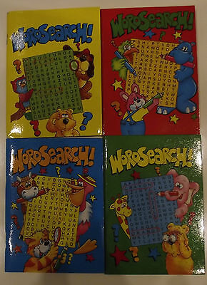 4x A6 Party Bag Pocket Size Childrens Wordsearch Books 64 Pages