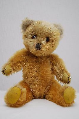 """SALE OFFER Sweet Unusual 15"""" Mohair Farnell Teddy Bear Yellow Pads & Web Claws"""