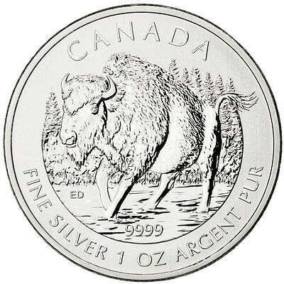 [#88750] Canada, 5 Dollars Bison 2013, 1 once Argent, KM 1434