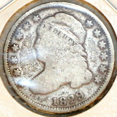 1829 10C Capped Bust Dime