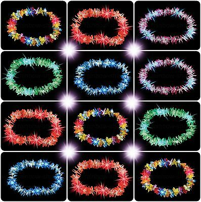LED Flower garland shines necklaces Hawaiian chain flashes