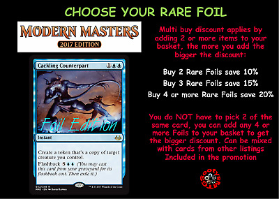 MTG Modern Masters 2017 MM3 Choose your Rare FOIL - New Mint in stock