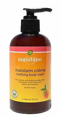 Mambino Organics: Mandarin Creme Natural Body Wash, 8 oz