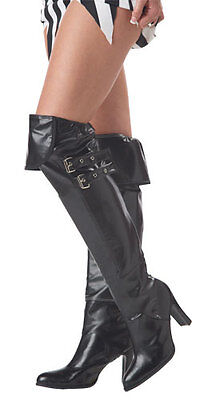 Adult Black Deluxe Boot Covers for Halloween Costume