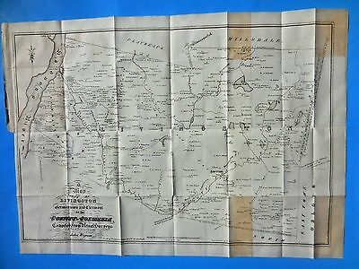 """ANTIQUE MAP """"1798 COLUMBIA COUNTY, N Y, LIVINGSTON-  GERMANTOWN""""  by R.H. PEASE"""