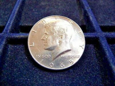 1965-P Kennedy 40% Silver Half Dollar In Unc Condition C-17-17