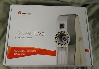 ARTEC EVA 3D Scanner Version 12-NEW IN BOX with 2 year WARRANTY + 20 LICENSES!!!