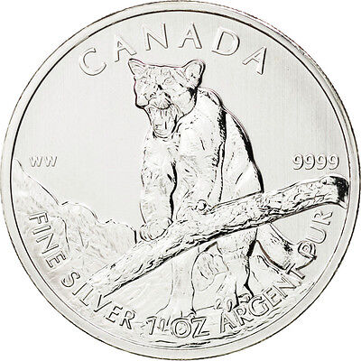 [#88753] Canada, 5 Dollars Puma 2012, 1 once Argent, KM 1164