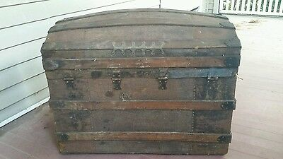 1800's Antique Large Dome Top Chest/Trunk for REPAIR