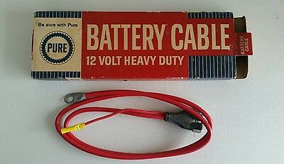 Vintage Pure Oil  Company Battery Cable In Original Box Nice!