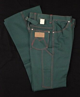 Vtg 1960s Blue Bell Maverick Jr Misses Green Jeans Sz 5/6 buckle back
