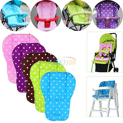 Baby Kid Infant Trolley Stroller Pram Pushchair Seat Dot Thick Liner Pad Cushion