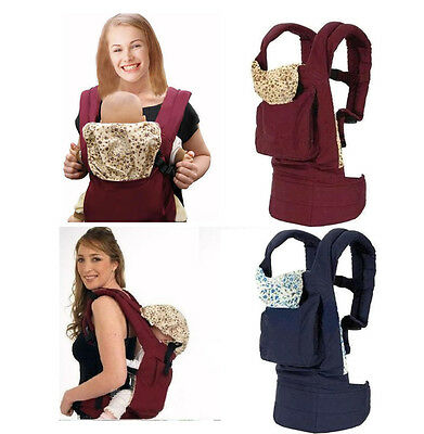 Kids Baby Newborn Carrier Sling Wrap Rider Backpack Pouch Ring Gear Kangaroo