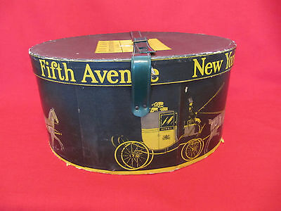 Rare Dobbs Fifth Avenue Hat Box With Green Strap