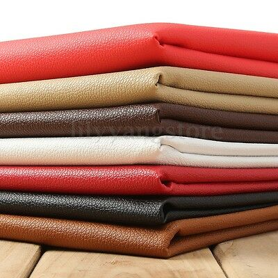 Lychee PU Leathercloth Faux Leather Vinyl Car Interior Upholstery Fabric Yard