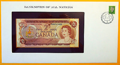 Canada - 1974 - $2 - Uncirculated Banknote enclosed in stamped envelope.