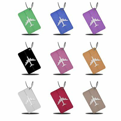 High Quality Metal Luggage Tag Aluminum Alloy Air Plane Travel Identity Card GT