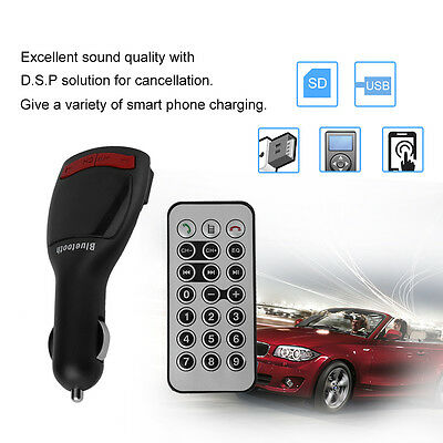 Bluetooth Stereo MP3 Player FM Transmitter Double USB Car Kit Charger GT