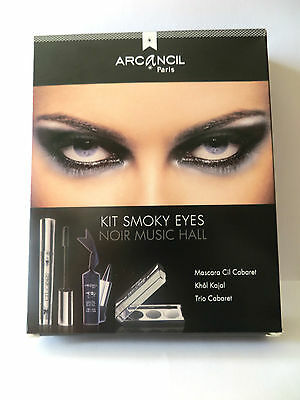 Kit Smoky Eyes Arcancil Noir Music Hall: Mascara + Khôl Kajal + Fard à paupières