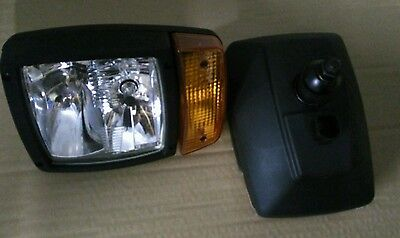 Jcb Fastrac Front Headlights Headlight Head Light Set £70 + Vat