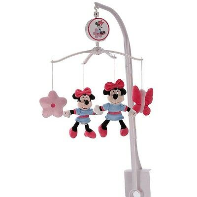 Disney Baby Minnie Mouse Simply Adorable Nursery Decorative Musical Mobile, Pink