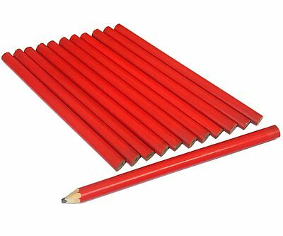 (PACK OF 12) Carpenters Pencils Builders Joiners Wood Working Marker Pencil