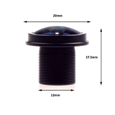 CCTV camera lens M12 1.8mm MINI Fisheye 180°wide angle for CCTV Security