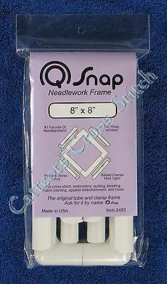 "Q Snap Needlework Frame 8"" x 8"" Cross Stitch Embroidery Quilting QSnap"
