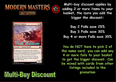 MTG Modern Masters 2017 MM3 Choose your common FOIL - (Letters H-Y) New