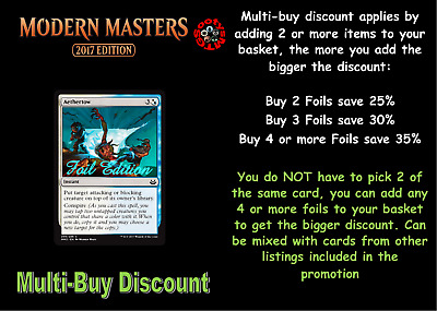 MTG Modern Masters 2017 MM3 Choose your common FOIL (Letters A-G) Buy 2 save 25%