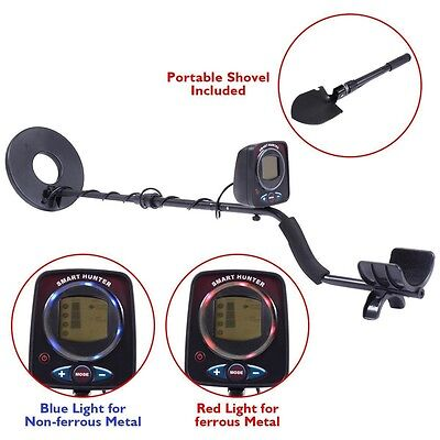 "Set Metal Detector 8.5"" Sensitive Search Treasure w/Shovel Waterproof Coil"