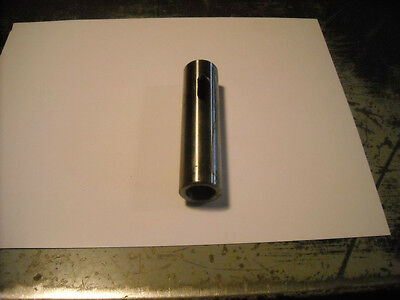 "Solid Socket / Sleeve / Arbor 1"" O.D. w/ no.2 Morse Taper Hole for Lathe etc"